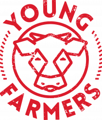 Vector Young Farmers logo red RGB-01